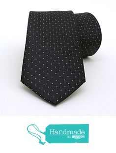 "Black and white dotted men's tie 7 cm (2,76"") SL-041 from Nazo Design https://www.amazon.com/dp/B01FW0FAB6/ref=hnd_sw_r_pi_dp_2Rs6xbGXP2B63 #handmadeatamazon #nazodesign"