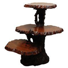 Japanese Root End Table ( three shelves ) | 1stdibs.com