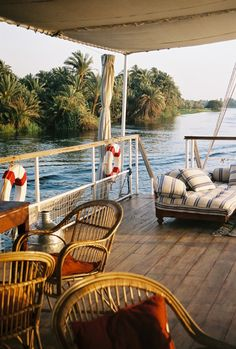 This must truly be amazing!! Imagine cruising down the Nile on this! Nour El Nil – Luxury Nile Cruises