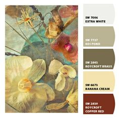 Koi Pond and Banana Cream.  Paint colors from Chip It! by Sherwin-Williams
