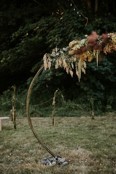 Must-See Washington Festival Wedding ~ ceremony arch featuring smoke bush