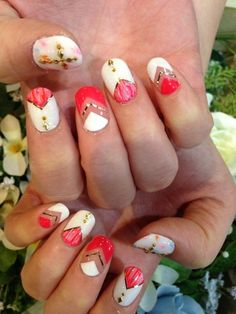 #nail #unhas #unha #nails #unhasdecoradas #nailart #gorgeous #fashion #stylish #lindo #cool #cute #fofo #vermelho #red #white #branco nails