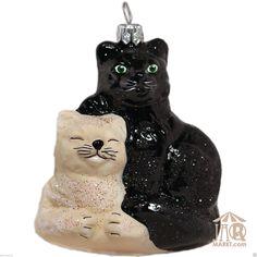 Christbaumschmuck Glastier Katzen Einzigartiger Glasschmuck Weihnachtsdeko | eBay