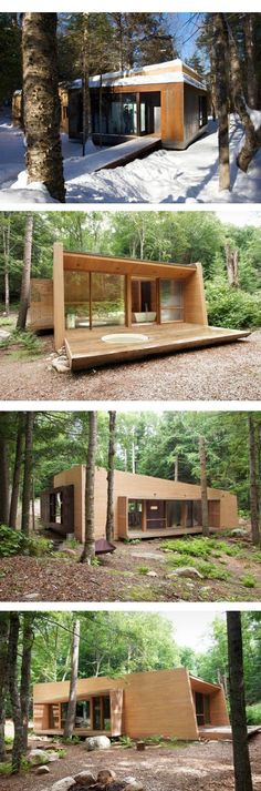 Wood Architecture the luge modus vivendi modus vivendi architecture architecture architects mod . Prefab Cabins, Prefabricated Houses, Ideas Cabaña, Casa Patio, Casas Containers, Luge, Weekend House, Wood Architecture, Container House Design