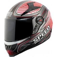 2014 Speed and Strength SS1300 Speed Strong Motorcycle Helmets-Red