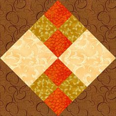 Improved Four Patch Quilt Block Pattern - 11-1/4""