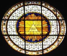 Tetragrammaton (God's name, see Jehovah) at the Roman Catholic Church Saint-Germain-des-Prés, at Paris, France.