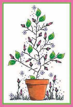 Rose Cluster Tree For All Seasons Card
