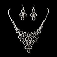 Bold Black Rhinestone Bridesmaid Jewelry Set for Wedding! specialoccasionsforless.com