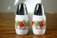 Gemco Spice of Life salt and pepper shakers - we had these.