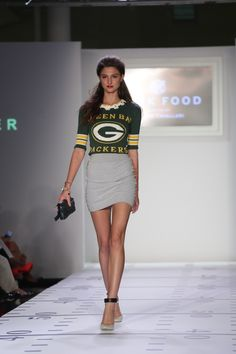 Green Bay Packers Junk Food Presents NFL/ELEMENTS Curated by Kristin Cavallari New York Fashion Week 2013 www.junkfoodclothing.blogspot.com