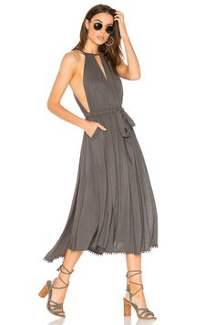 Free People Spring Love Midi Dress in Carbon