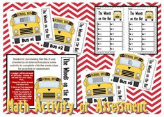 Math Assessment in a fun sort of way.  Other standards available in my TpT store under Math Assessments