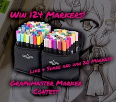 You should check our Facebook Page you can win 20 Markers! Then submit your artwork to be featured on our new packages: bit.ly/2aVYAA4