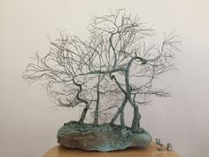 Copper wire tree on natural rock Find it at the Annapolis Royal Historic Gardens Annapolis Royal, Peace Art, Wire Trees, Miniature Trees, Garden Shop, One Tree, Wabi Sabi, Recycled Materials, Copper Wire