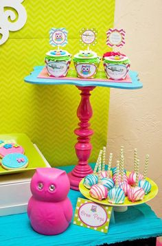 Look Whoo's One Owl Party Planning Ideas Supplies Idea Cake Decor