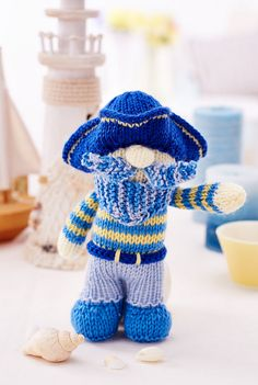Ahoy me hearties! Here, beginner knitters can whip their skills into ship-shape with the help of our aptly named pirate, Bluebeard. Our cheeky captain is just the thing for capturing the magic of the ocean – children are sure to love