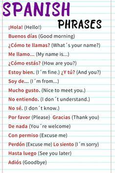 Frases em espanhol para você aprender em casa