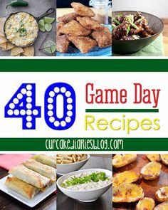 40 Recipes for the Big Game | cupcakediariesblog.com