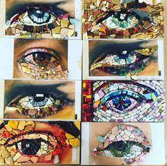 Smalti weekend Mosaic Wall Art, Mirror Mosaic, Glass Wall Art, Stained Glass Art, Tile Art, Diy Wall Art, Mosaic Tiles, Mosaic Planters, Mosaic Garden
