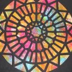 Quilting a Stained Glass Window : Crafts : The Home Channel Home Channel, Window Art, Stained Glass Windows, Black Fabric, Applique, Quilting, Diy Crafts, Art Ideas, Inspiration