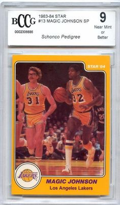 910d7f62f 1983-84 star  13 magic johnson bccg 9 from  29.97 Magic Johnson