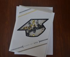 Class of 2015 Graduation Shaker Card by LilyRCreations on Etsy