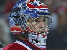 Hockey Goalie, Ice Hockey, Montreal Canadiens, Nhl, Goalie Mask, Site Officiel, Cool Masks, Balls, Blood