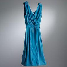 Simply Vera Vera Wang Surplice Mixed-Media Empire Dress