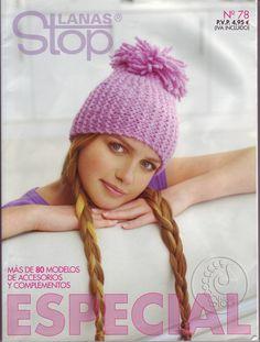 Lanas Stop N°78  Revista de accesorios en crochet  https://picasaweb.google.com/111014895045247802483/EspecialLanasStopN78ComplementosEnGanchilloYTricotar#