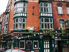 Dublin, Ireland.  O'Neill's Pub, in the Quays <3