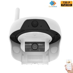 Solar Powered Wireless WiFi Security Camera 720P Cable-less IP Network Surveillance System Remote Control Web Cam Wire-Free Water Proof Outdoor Dome Camera with Built in 16GB TF Card