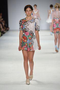 Gradual patterned dress