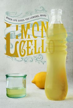 Limoncello.  I make this every spring, and it is so good.  I freeze my shot glasses, freeze the lemoncello and pour shots.  So refreshing on a warm spring/summer day!