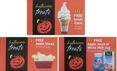 McDonald's: Halloween Treats Coupon Booklets Only $1 = 12 FREE Product Coupons