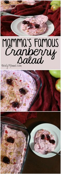This recipe for tasty cranberry salad is perfect for Thanksgiving or Christmas dinner. It's a cranberry dish that even kids will love! Dip Recipes, Cooking Recipes, Yummy Recipes, Cooking Tips, Dessert Recipes, Recipe For Mom, Recipe Of The Day, Easy Desserts, Delicious Desserts