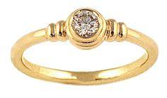 Pet 481 14k Yellow Gold Diamond Ring
