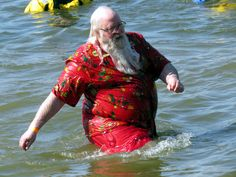 https://flic.kr/p/RMYiEi | As far as I know this could've been the real #Santa! | I never heard any HO HO HOs but if it wasn't really Santa he should be. He was doing the #IndyPlunge at Eagle Creek Park in Indianapolis and it was a freezing day for a polar plunge.