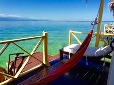 our private deck @ aqua lodge, lots of starfish, fish, stars at night & the constant sound of water