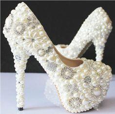 Handmade Luxury Colored Sparkly Rhinestone Bridesmaid Wedding Prom Evening Dress Pumps Shoes