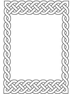 Printable Celtic Frames | Literary Spring Designs Celtic Cross Tattoos, Celtic Art, Celtic Dragon, Decorative Metal Screen, Celtic Border, Celtic Quilt, Leather Tooling Patterns, Islamic Art Calligraphy, Calligraphy Alphabet
