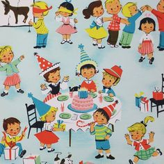 Vintage Wrapping Paper, Gift Wrapping Paper, Vintage Paper, Birthday Congratulations, Birthday Greetings, Happy Birthday, Vintage Gifts, Vintage Toys, Recycled Gifts