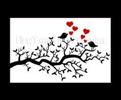 Bird Cross Stitch Pattern, Cross Stitch Pattern, Cross Stitch Silhouette, Bird Silhouette, Red Heart from NewYorkNeedleworks on Etsy. $8.50, via Etsy.