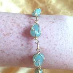 Spotted while shopping on Poshmark: Green/Gold Gemstone Bracelet! #poshmark #fashion #shopping #style #Jewelry