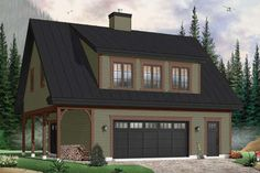 Craftsman Plan: 838 Square Feet, 1 Bathroom - 035-00857 Carriage House Plans, Garage Apartment Plans, Garage Plans, Garage Ideas, Shed Dormer, Modern Farmhouse Plans, Best House Plans, Build Your Dream Home, Building A House