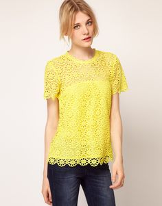 French Connection Lace T-Shirt
