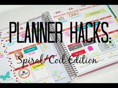DIY PLANNER HACKS: SPIRAL/COIL EDITION - YouTube