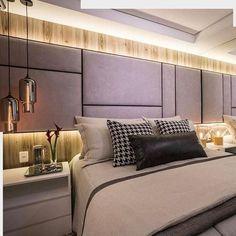 Cabeceiras de cama - Cabeceiras de Placas - cabeceira em placas modernas