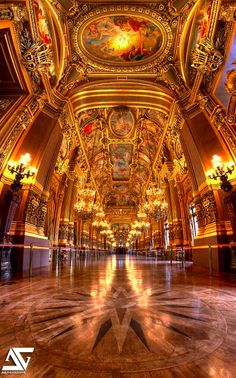 Le grand foyer Opéra Garnier in Paris • A.G. photographe on Flickr
