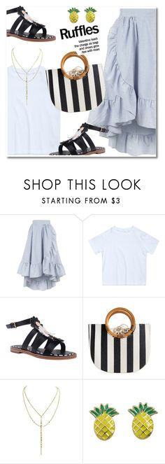 """""""ruffles skirt"""" by paculi ❤ liked on Polyvore featuring Maje and zaful"""